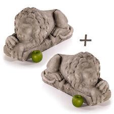Steinfiguren liegender Löwe links Steinlöwe Gartenfiguren Sandstein Löwen 492840