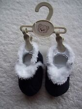 BNWT Baby Boy's Navy & White Soft Soled Boots/Shoes Size 2
