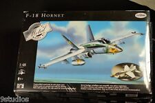 Testors Metal F 18 Hornet Airplane 1:48 Scale Diecast Metal Model Kit NEW SEALED