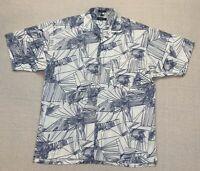 VTG Christian Dior Monsieur Men's Large L Abstract Hawaiian Short Sleeve Shirt