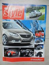 Catalogue 2009 accessoires IRMSCHER pour OPEL