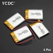 502535 3.7V 450mAh Li-ion Battery Replacement For GPS MP3 MP4 Recorder 4Pcs 7CF