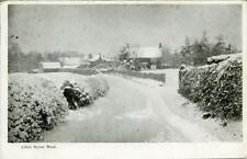 PRINTED POSTCARD OF LITTLE AYTON ROAD IN WINTER (NEAR STOKESLEY) NORTH YORKSHIRE