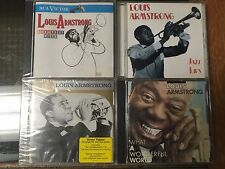 Louis Armstrong x 4 What A Wonderful World Platinum Gold Greatest Hits Jazz Lips