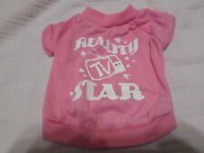 pink dog shirt size xs