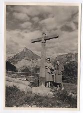 PHOTO ANCIENNE Col de la Forclaz Massif de la Tournette 1954 Croix Haute Savoie
