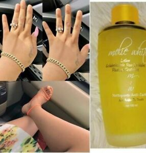 Lotion melie white. Lightening lotion for feet hands and scars with fruits acide