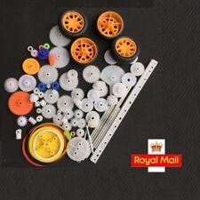 Eje de plástico 76 un. solo doble rueda de corona reducción engranajes de gusano para RC Juguetes
