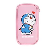Doraemon Licensed Blue Pink Pen Pencil Multi-Purpose Pouch Case Stationery