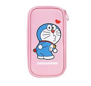 Doraemon Licensed Blue Pink Pen Pencil Multi-Purpose Pouch Case Stationery
