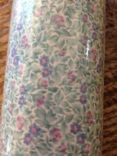 Vintage Purple Pink Green Small Flowers Wallpaper Paper Scrapbook Craft 56.3 sq'
