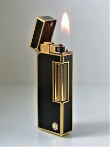 Dunhill Rollagas Lighter (Black Lacquer d Design) with a 12 month Guarantee!