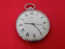Vintage pocket watch Luch mechanical Rare Soviet Ussr Roman numbers 23 jewels