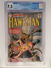 BRAVE and the BOLD #42 (CGC 7.5) 1962 HAWKMAN EARNS HONOR WINGS! SILVER AGE DC!