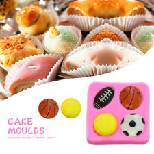 Healthy Ball Baking Tool Soccer Mould Bakeware Xmas Party Decoration Silicone