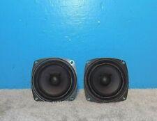 "2 Sony 1-502-929-11 4"" Full Range Speakers Cloth Surround 4Ω Free Shipping"
