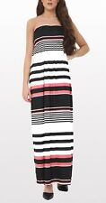 Ladies Strapless Sheering Beach Dress Long Boobtube Bandeau Printed Maxi Dress