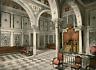 Tunis. Bardo. La salle du tribunal.  PZ vintage photochromie, Tunisie photochr