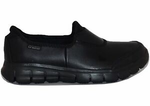 Skechers Sure Track Ladies Leather Black Non-Slip NHS Approved Work Shoes 3-6