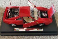 VINTAGE BBURAGO FERRARI GTO (1984) 0572 DIECAST METAL 1/24 BOXED