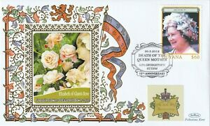 GUYANA 2012 QUEEN MOTHER 10th ANNIVERSARY OF HER DEATH BENHAM LE COVER ROSE a