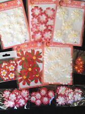 120 Flowers Lot petals Assortment flower Red White Handmade Mulberry Paper 4
