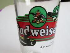 Beer Glass Pint Glass ~ Bud + Weis Commercial w/ Gecko Lizard ~ 1997 Budweiser