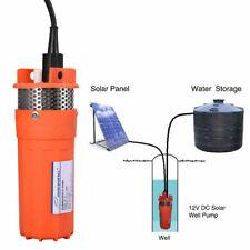 12V DC SOLAR PUMP 30M SUBMERSIBLE BORE HOLE WATER PUMP DEEP WELL HEAD 70M LIFT