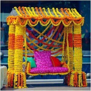 20 pc lot Wedding hanging Garland flower Indian orange and yellow decor flower
