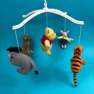 Vintage Disney Classic Winnie The Pooh Plush Soft Toy Baby Cot Mobile 1990s