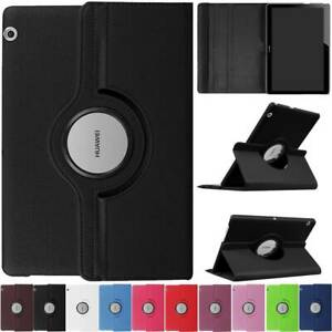360 Rotating PU Leather Case Cover For Huawei Mediapad T5 10.0 /Honor Tab 5 10.1