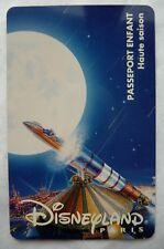 CARTE DE COLLECTION DISNEYLAND PARIS / SPACE MOUNTAIN / ENFANT
