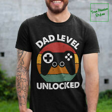 New listing Dad Level Unlocked Tee Shirt, Gaming Shirt, First Time Dad