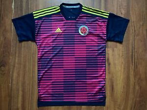 COLOMBIA FOOTBALL SHIRT 2018 ADIDAS JERSEY NATIONAL TEAM SIZE S