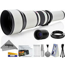 Opteka 650-2600mm High Definition Ultra Telephoto Zoom Lens for Canon EF mount
