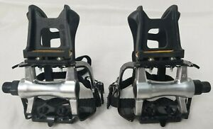 "VP #786M Pair Bike Pedals 9/16"" Toe Clips & Straps  - Free Shipping"