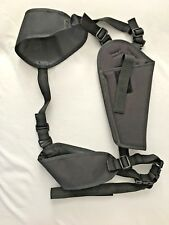 "Black 6X11"" Revolver Holister with Belt & Leg Straps"