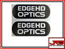 2 x Edge HD Optics Vinyl Logo Stickers in Black