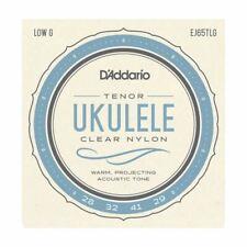 UKULELE STRINGS - D'ADDARIO EJ65TLG - CLEAR NYLON - TENOR SET - GCEA LOW G