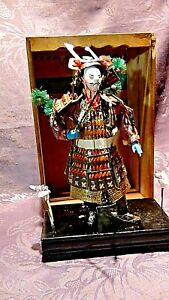 ANTIQUE JAPANESE SAMURAI MUSHA NINGUO WARRIOR DOLL FROM SEATTLE ART DOLL MUSEUM