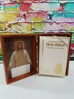 Vintage 1976 King James Holy Bible Protestant Memorial Edition in Wooden Box