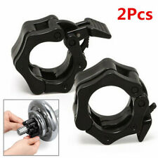 2x Barbell Dumbell Clips Clamp Collars Weight Bar Lock Lifting Tools 25MM