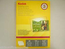 """Genuine Kodak Greetings Cards Pack 5740-017 Free Software Download 5x7"""" 20PK"""