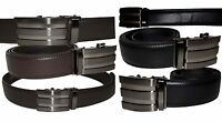 New Men's Quick Lock  leather Dress belt, Casual belt leather belt Strap BNWT+*