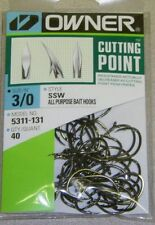 OWNER HOOKS SSW ALL PURPOSE BAIT 5311-131 SZ 3/0 QTY 40