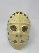 Vintage Adjustable Mylec White Street Hockey Goalie Mask Used