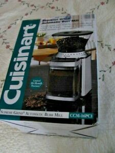 Cuisinart Supreme Grind™ Automatic Coffee Mill Burr 8 Oz. Grinder -CCM-16PCI NEW