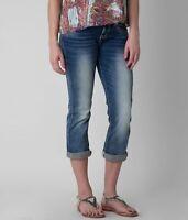 BKE Buckle Womens Sabrina Cropped Capri Jeans Denim Stretch Blue Sz 26