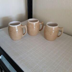 Set of 3 UHL Pottery Barrel Mugs #16