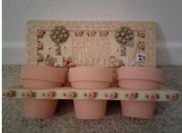 New Mary Engelbreit Flower Pot Holder In The Garden HAPPINESS MUST BE GROWN
